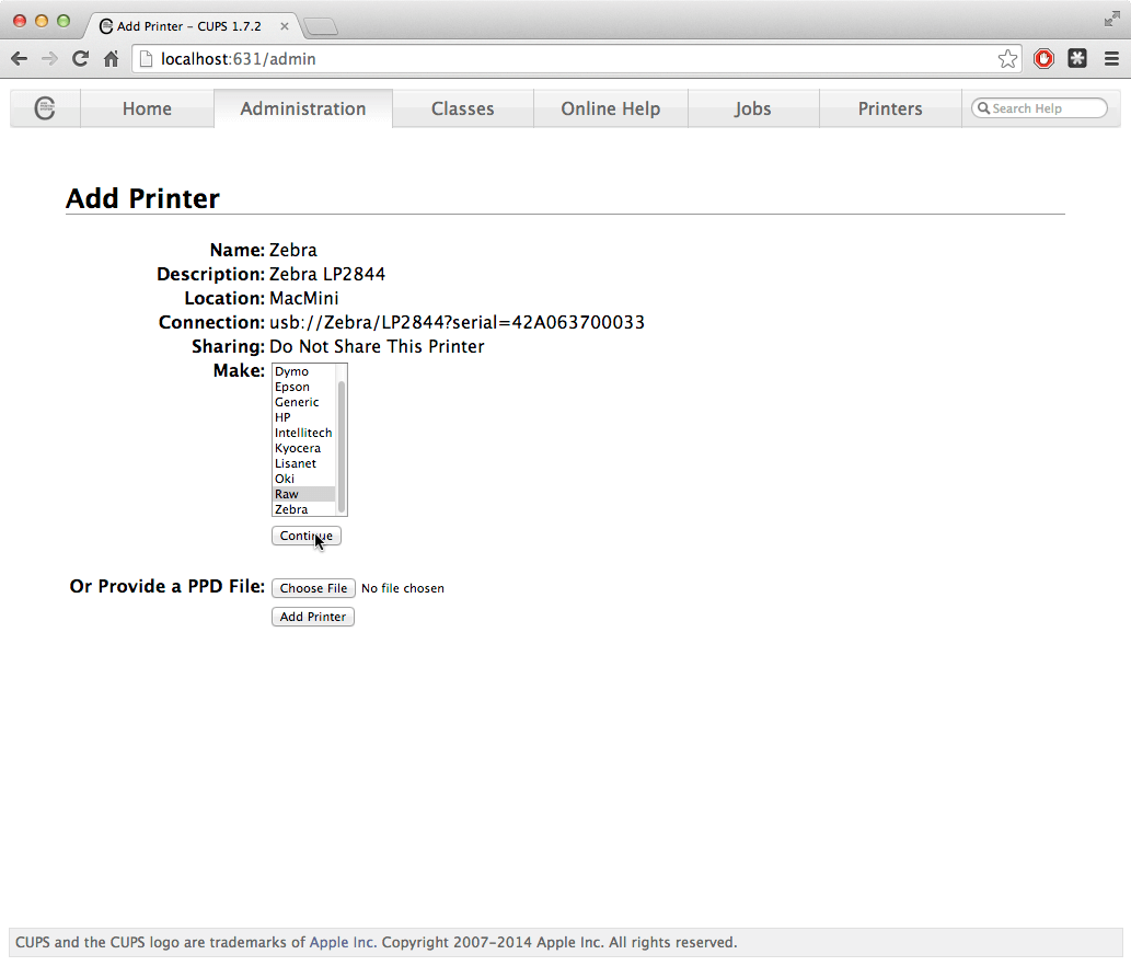 Setting Up RAW Printing for macOS / OS X | PrintNode